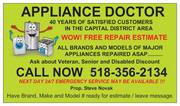 Home Appliance Repair,  all Makes and Models